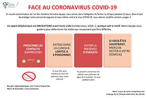 Face au coronavirus